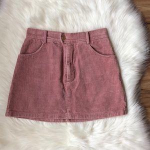 Kendall & Kylie Corduroy Pink Skirt